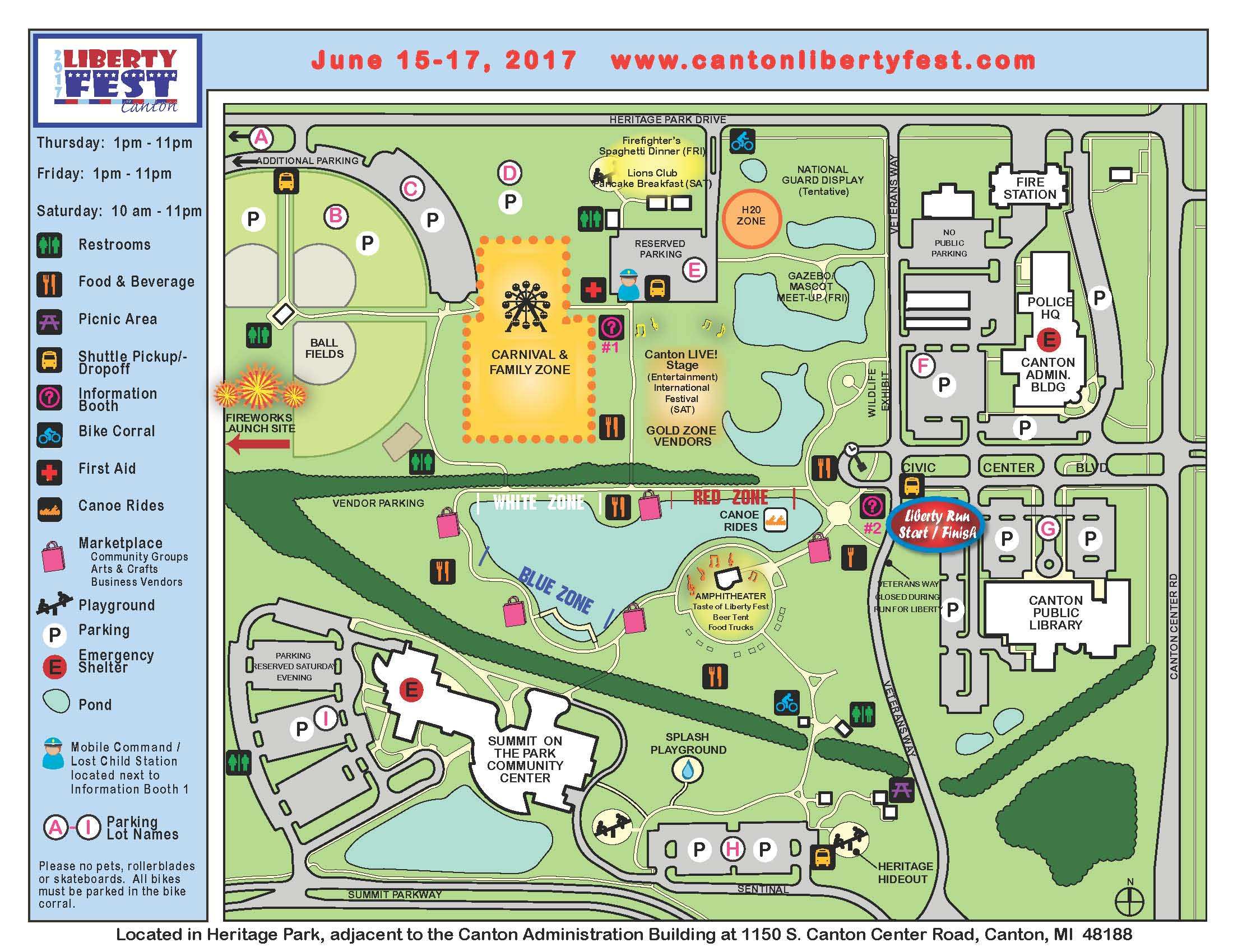 2017 Liberty Fest Grounds Map