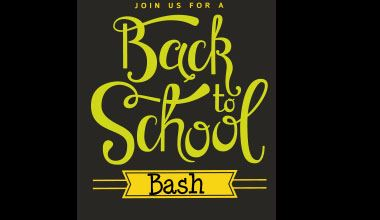 Back to School Bash Graphic