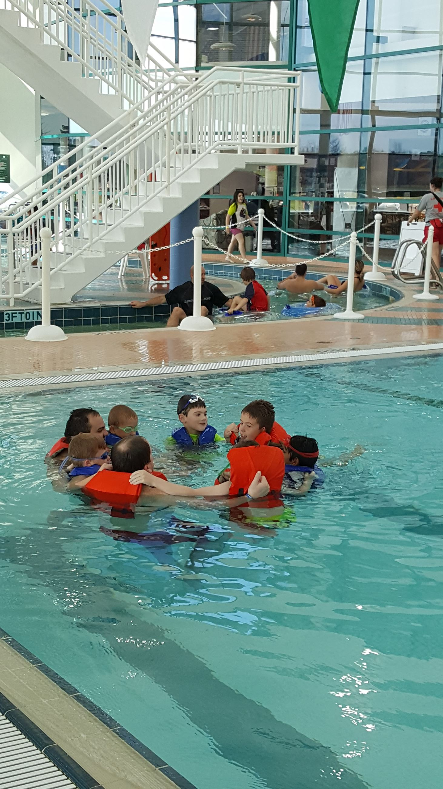 Scouts in the Pool learning survival tips