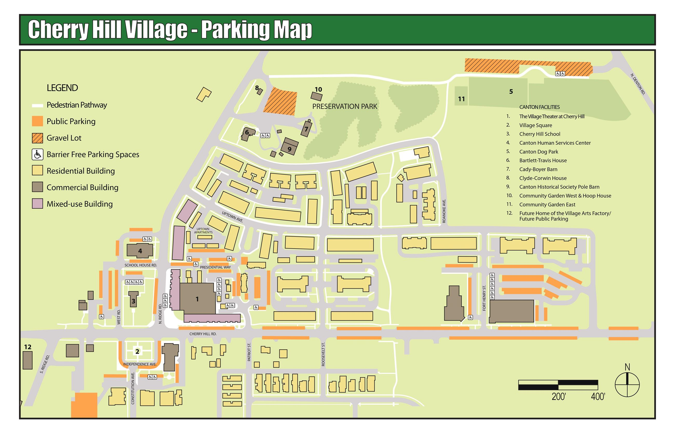 Map of Available Parking at The Village Theater